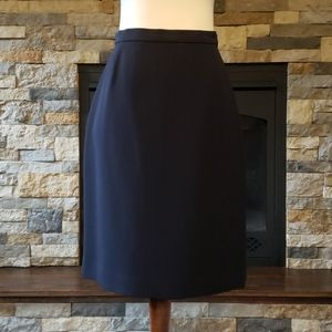 Simple navy blue pencil skirt